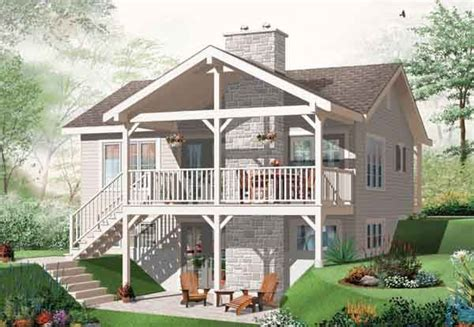 plan   rear view  square foot home  story  bedroom   bath basement house