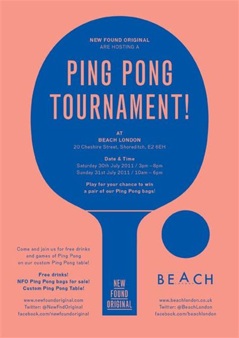 ping pong the original table colors ping pong tournament poster by new found