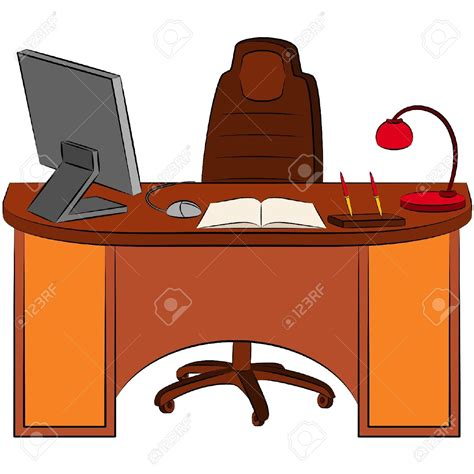 clipart bureau table clipart office table pencil and in color table