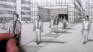 How To Draw People In 1-point Perspective