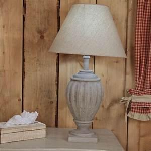 Pied De Lampe : pied de lampe sculpt bois gris 21 luminaires ~ Teatrodelosmanantiales.com Idées de Décoration