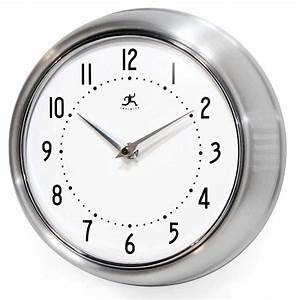 The Retro Silver Wall Clock by Infinity Instruments ...