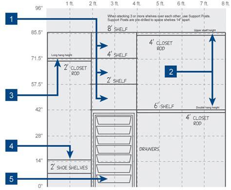closet shelf height wire combo kits
