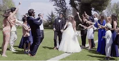 Marriage Ceremony Rice Gifs Married Couple Caption