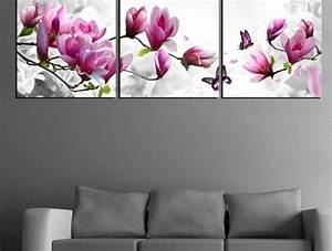 design d39interieur style avec le tableau triptyque With chambre bébé design avec tableau fleurs blanches