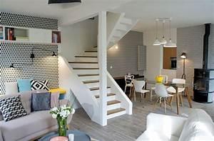 Salon Design Scandinave : d coration salon peint en blanc ~ Preciouscoupons.com Idées de Décoration