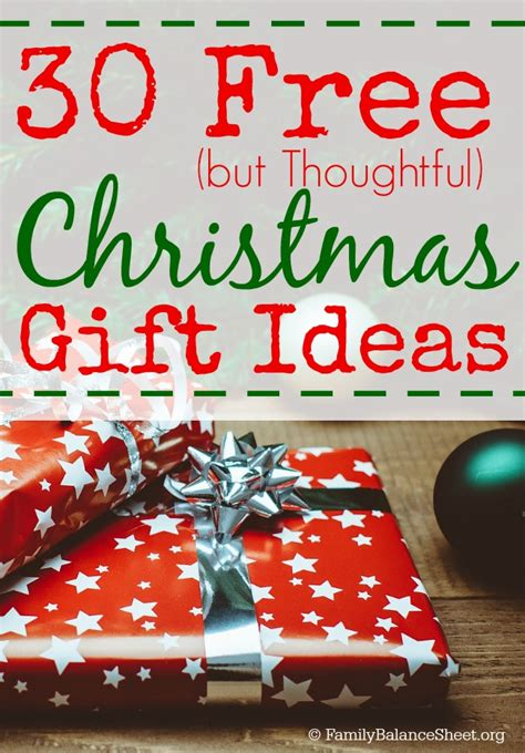 30 free but thoughtful christmas gift ideas money saving