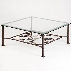 table basse en fer forge carree ou rectangulaire 4 pieds With table basse fer forge