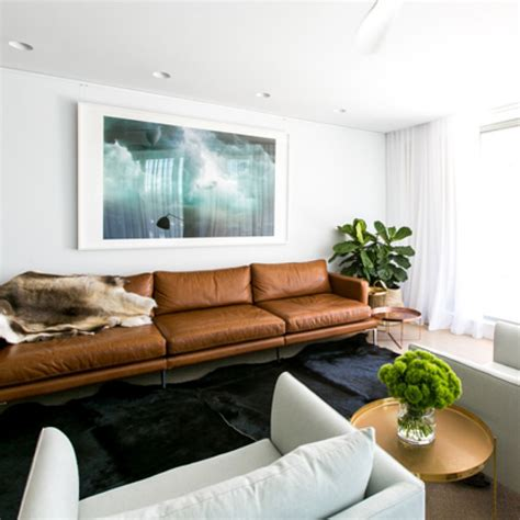 Modern Chaise Sofa by Top 5 Tan Leather Sofas