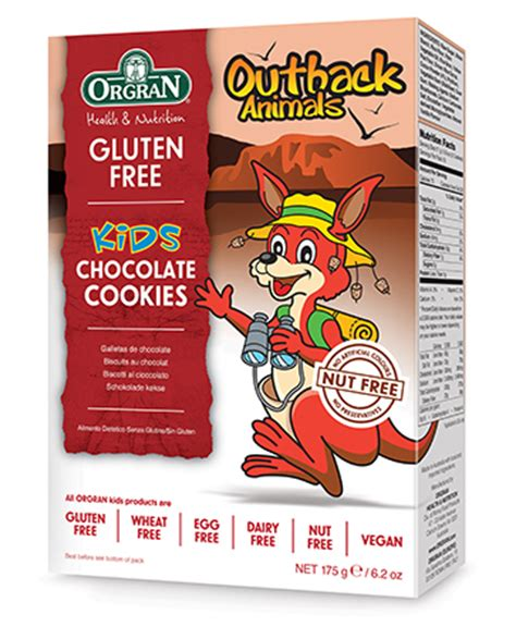 orgran outback cookies outback animals chocolate cookies orgran
