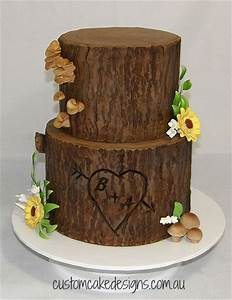Tree Stump Wedding Cake - CakeCentral com