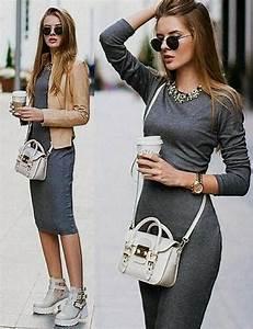 Black midi dress outfit ideas 2017-2018   Best Clothe Shop