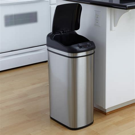 trash can amusing stainless steel trash can for kitchen