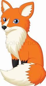 Vector illustration of Cute fox cartoon   Stock Vector ...