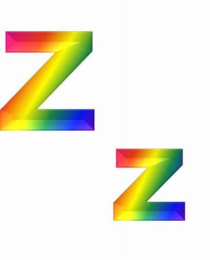 Letter Alphabets Alphabet Rainbow Transparent Bright Abc