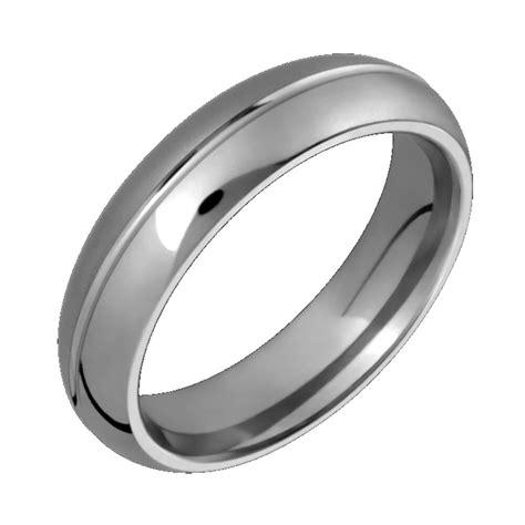 titanium wedding ring w center groove 6mm wide half sandblast n polished band ebay