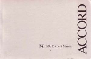 1998 Honda Accord Coupe Owners Manual User Guide Reference
