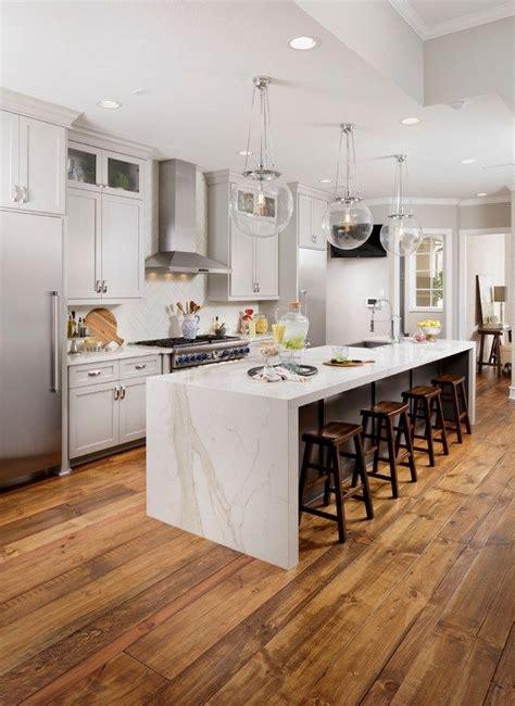 waterfall countertop design ideas modern kitchens