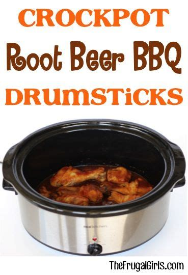 crockpot bbq drumsticks crockpot root beer bbq drumsticks recipe from thefrugalgirls com go grab your slow cooker