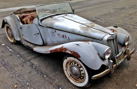 ebay home interior parked for 45 years 1954 mg tf