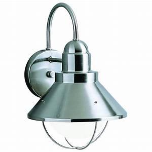 kichler lighting 9022ni seaside country brushed nickel With kichler lighting 9022 seaside outdoor sconce