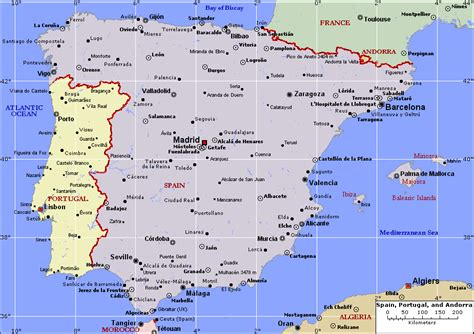 Carte Portugal Espagne portugal carte espagne