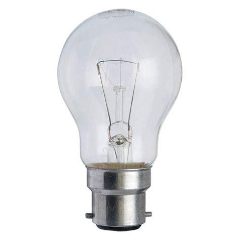 watt bc  clear rough service gls light bulb