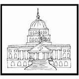 Capitol Coloring Congress Printable History Template Pages Templates sketch template