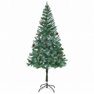 Künstlicher Weihnachtsbaum 180 Cm : vidaxl k nstlicher weihnachtsbaum mit tannenzapfen 180 cm g nstig kaufen ~ Buech-reservation.com Haus und Dekorationen