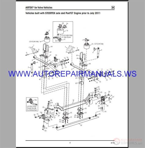 hendrickson parts service manual  auto repair