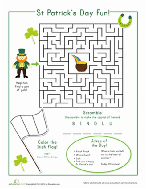 st s day worksheet education