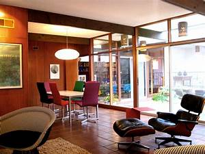 1960's Architect's home refurbished with color, textiles ...