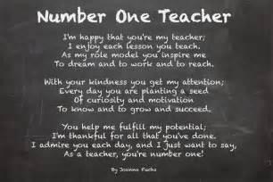 Teacher Appreciation Poem
