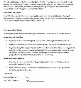 Business contracts contract templates for International trade contract template