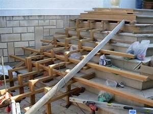 Escalier Terrasse Bois : terrasse en bois avec escalier en bois ~ Nature-et-papiers.com Idées de Décoration