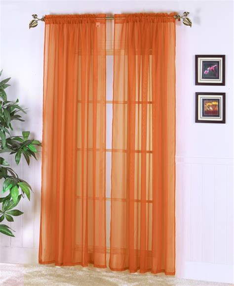 Orange Sheer Curtains Walmart by Walmart Light Blue Sheer Curtains