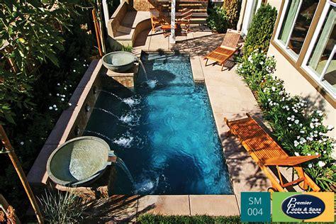Small Pool Backyard by Small Pools Spools Premier Pools Spas