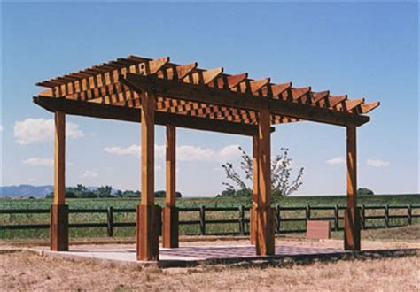 wood shade structure how to build wooden shade structures pdf plans