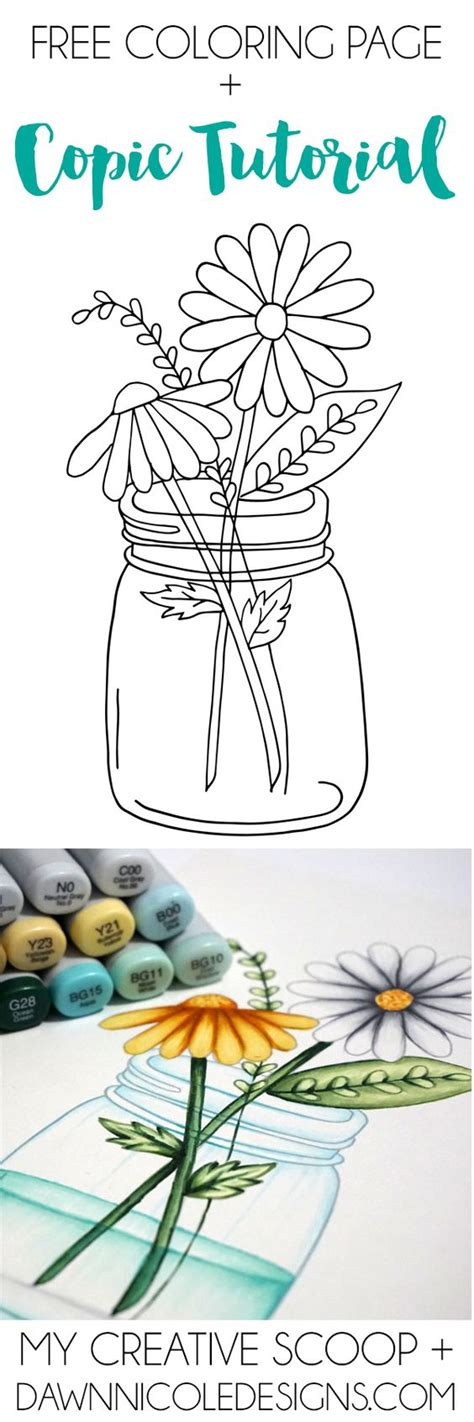 coloring with markers how to color water and glass with copic markers free