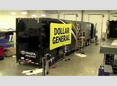 NASCAR Hauler 6 Hour Wrap in 1 Minute Time Lapse YouTube