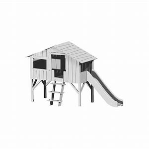 Lit Cabane 90x190 : lit cabane toboggan mathy by bols laqu rose hiver ~ Teatrodelosmanantiales.com Idées de Décoration