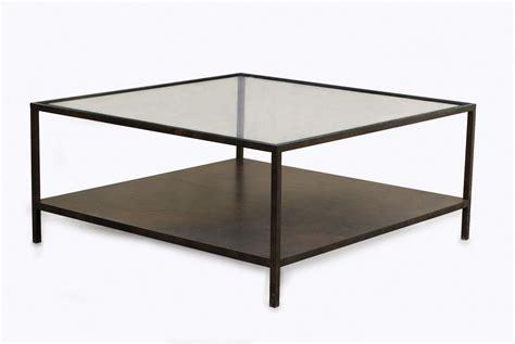 table basse carr 233 e 1 plateau verre 1plateau tole sur mesure home decor
