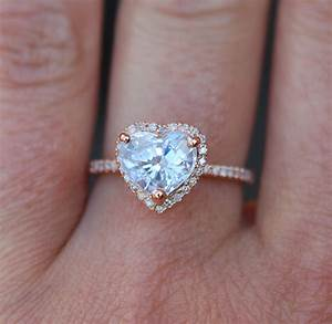 engagement ring heart sapphire rose gold ring 15ct heart With heart wedding ring