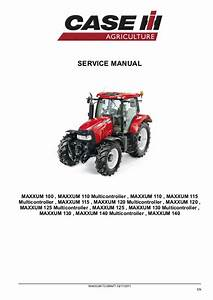 Case Ih Maxxum 110 Tractor Service Repair Manual
