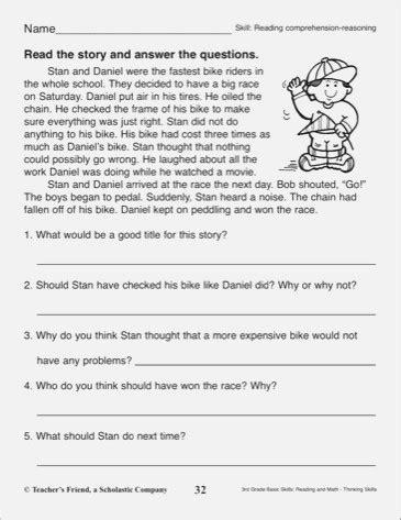 2nd Grade Comprehension Questions Dailypollco