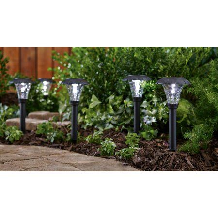 patio lights walmart mainstays pebbled cone 8 solar powered landscape