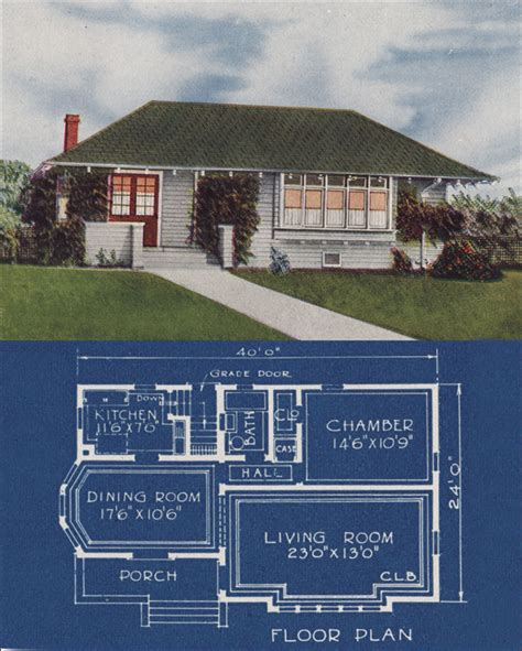 bungalow cottage hip roof simple  bedroom home vintage small house plans