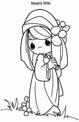Coloring Wife Precious Pastora Noah Moments Momentos Preciosos Pintar Colorir Desenho Coloringbook4kids Dibujos Yuli Desenhos Bordar Tudodesenhos Imprimir Creaciones sketch template