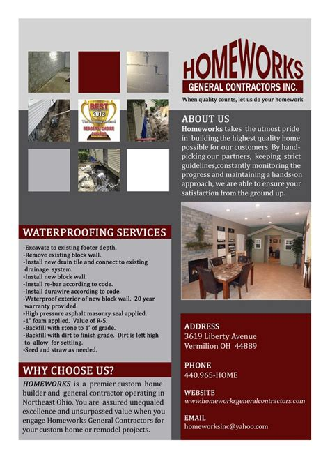 home improvement flyer folder design design home