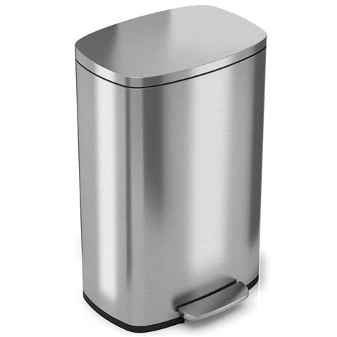 itouchless softstep  gal stainless steel step kitchen